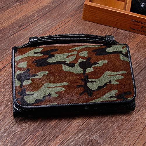 Bag Wallet Leopard Leder Damen Geldbörse Schulter Kette Damen Geldbörse, CamouflageWomen Brieftasche