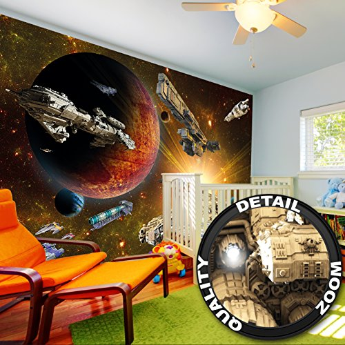 Fotomurales Galaxy Adventur - Decorazioni pareti Missionenelle spazio - space-shuttle