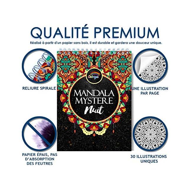 Coloriage Adulte Fond Noir.Le Premier Cahier De Coloriage Mandala Avec Papier Noir Artiste Et