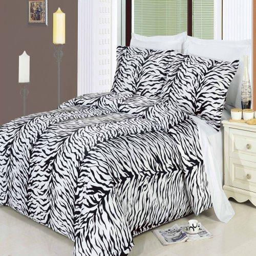 Zebra 8pc California King Size Bett In Einem Beutel Tröster Set 100% Baumwolle 300TC, inklusive 4Bettlaken-Set + 3-teiliges Bettbezug Set +, die Alternative Tröster von Royal Hotel Betten (Ägyptische Baumwolle Bett In Einem Beutel)