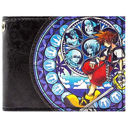 Kingdom Hearts 2 Sora Donald Goofy Blau Portemonnaie ()