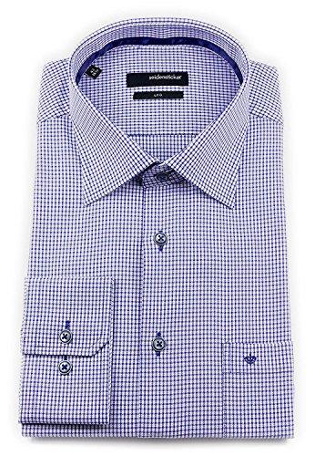 Seidensticker -  Camicia classiche  - A quadri - Classico  - Uomo Blau