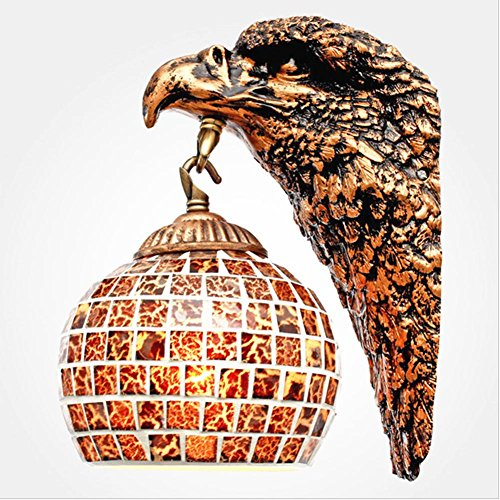 WSND European Style Antique Wall Lights Bedroom Living Room Cafe Bar Hotel Room Mosaic Lampshade Wall Lamp