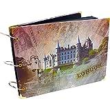 Natural Home DIY Fotoalbum Hochzeit Fine Art 60 Schwarze Seiten(30 Blatt) Scrapbook Groß 27x19,5cm (London Schloss)
