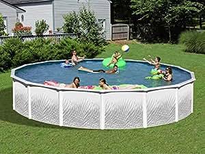 Swim'n Play - Piscine acier ronde - Ø 3.66 x H 1.22 m - Groupe de filtration à sable complet 4 m3/h