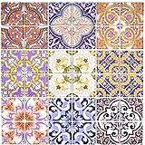 Retro Vintage Mosaik Fliese Transluzent mehrfarben bunt Glasmosaik Crystal SPAIN für WAND BAD WC DUSCHE KÜCHE FLIESENSPIEGEL THEKENVERKLEIDUNG BADEWANNENVERKLEIDUNG Mosaikmatte Mosaikplatte
