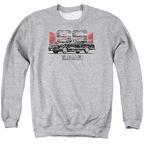 Corvette Central Chevy Herren Sweatshirt EL Camino Ss Mountains Athletic Heather - Grau - Mittel - Sweat-shirt Corvette