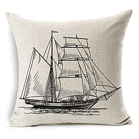 Custom Cotton Linen Leaning Cushion Covers Pillowslip 17.7