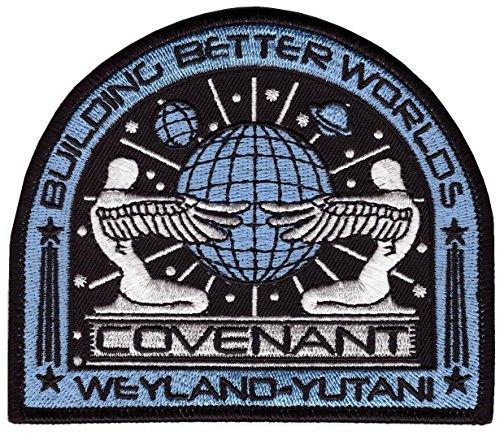 Alien Movie Prometheus Covenant Weyland Corp Crew Uniform Cosplay Patch Iron On Aufnäher Aufbügler Patch by Titan One Europe