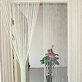 Kristallperle vorhang,Schöne dekoration acryl perlen vorhang Wand vorhang Kugel perlen hängende tür vorhang Weiß-A