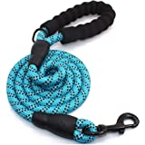 PetVogue 4FT Strong Dog Rope Leash with Comfortable Padded Handle and Highly Reflective Threads for Medium and Large Dogs