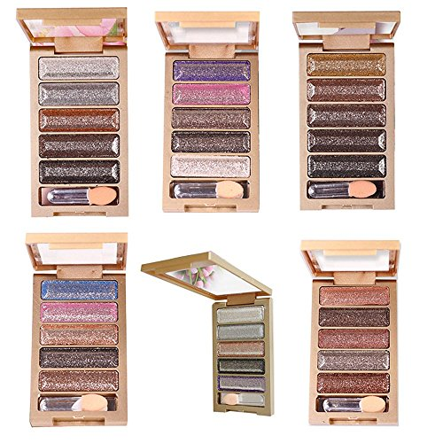 Ucanbe 5 Colors Flash Daimon Shimmer and Glitte Eyeshadow Makeup Palette,#6