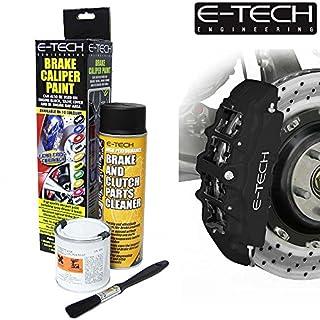 E-Tech Brake Caliper Paint - MATT BLACK - Complete Kit Inc Paint/Cleaner & Brush