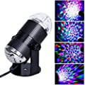 Hotrose Music Active LED Light RGB Stage Effect Lighting Club for Disco DJ Party Bar with UK plug - low-cost UK light store.