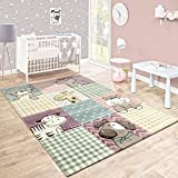 Paco Home Kinderteppich Kinderzimmer Konturenschnitt Lustige Tiere Bunt Pastellfarben