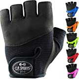 C.P. Sports Iron-Handschuh Komfort farbig Trainingshandschuh Fitness Handschuhe für Damen und Herren schwarz M
