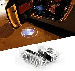 Karono TM 2pcs Car Door LED Logo Laser Courtesy Emblem Shadow Welcome Projector Lamp Light for BMW