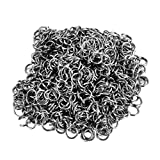 HOUSWEETY 500PCs Stainless Steel Open Jump Rings Silver Plated -Jewellery Making Findings Beading Crafting