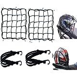 2*Rete Ragno Elastica +2*Corda Elastica,4 pz Rete Elastica Moto Accessori per,Moto Bici Portapacchi Coprire Appendere Casco B