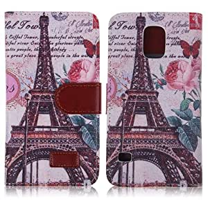 Retro Printed Leather Wallet Case Cover Stand for Samsung Galaxy S5 V i9600 G900 #10