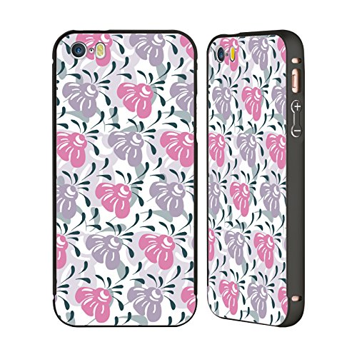 Ufficiale Shelly Bremmer Giardino Estivo Fiori Nero Cover Contorno con Bumper in Alluminio per Apple iPhone 6 Plus / 6s Plus Rosa
