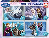 Educa 16173 - Kartonpuzzle - Multi Frozen - Eiskönigin, 4-er Pack