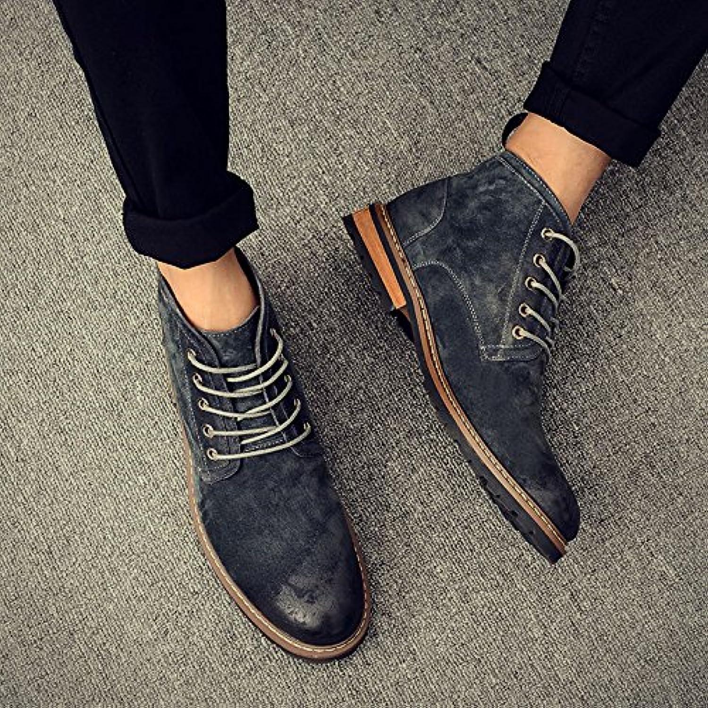 HL-PYL-Martin botas, botas altas y botas cortas, lijado, retro, pieles y botas masculinas,40,gris