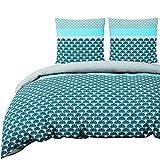 Nimsay Home Azure Parure de lit 100% Coton, 100% Coton, 200 x 200 cm + 2 x 63 x 63 cm