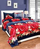 #5: Akshya 3D 140 TC Polycotton Double Bedsheet with 2 Pillow Covers