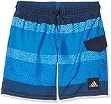 adidas Jungen Yb Aop Badehose, Shock Blue/Blue/Collegiate Navy, 128