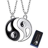 yin yang collana, ZoneYan Ciondolo 2pc Collana Ciondolo Tai Chi Yin Yang Puzzle Amicizia Separabile Amore Coppia Lega…