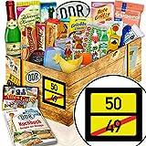 Ortsschild 50 ++ 50 Geburtstag Geschenke ++ Ostpaket Geschenkset