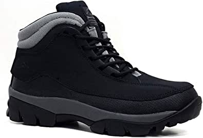 MENS GROUNDWORK LEATHER UPPERS SMART/CASUAL LACE UP STEEL TOE CAP SAFETY BOOTS (UK6, 386 Black)