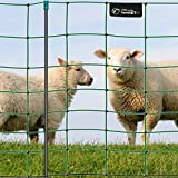 Rete per pascoli di pecore, per recinzioni elettrificabili VOSS.farming farmNET 50 m , altezza 90 cm, a punta singola, 14 pali, colore verde