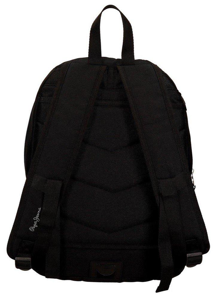 61TLyOh5V0L - Pepe Jeans Harlow Mochila Escolar, 42 cm, 19.44 litros, Negro