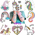 Dusenly Unicorn Temporary Tattoos for Kids (Pack of 25 Sheets) Non Toxic Waterproof Cartoon Rainbow Unicorn Tattoos Sticker for Children Birthday Party Favors