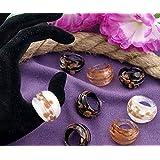 Ecloud Shop® 12X Anillos Sortijas Cristal de Murano Multicolor 17-19mm