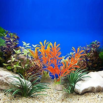 Mudder Artificial Aquarium Plastic Plants, 8 Pieces 4