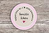 48 x Personalisierte Adress Aufkleber rosa Wunschdruck Aufkleber matt 4cm Etiketten Geschenkaufkleber