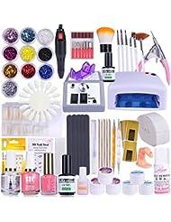 29 Set Nagelset mit Nailart,Vanyda UV Lampe Komplette Nail Studio Sets UV Gel Nail Studio Ausrüstung für Anfänger und Profis