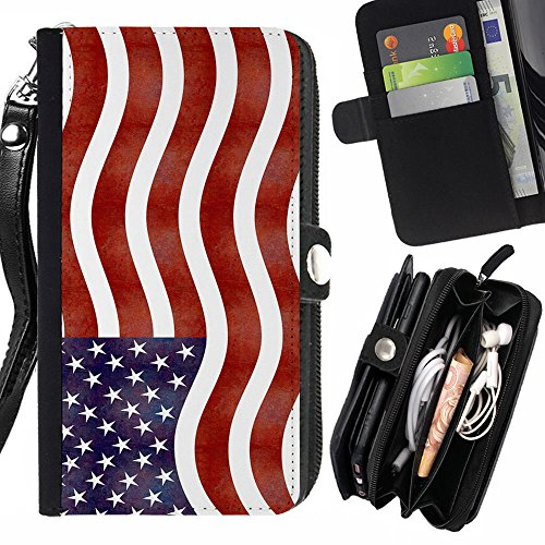 graphic4you-waving-american-united-states-usa-zipper-wallet-with-strap-card-holder-case-cover-for-sa