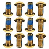 12X Cycling Bike Bicycle Disc Brake ROTOR SCREW BOLTS M5 X10MM Gold Color