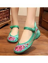 GuiXinWeiHeng xiuhuaxie (new)-Gestickte Schuhe, Sehnensohle, ethnischer Stil, weibliche Tuchschuhe, Mode, bequem, Tanzschuhe, black, 39