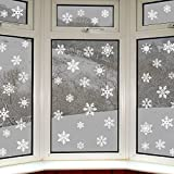 Articlings  2847279, 42 Original Snowflake Window Clings Fabulous Static PVC Stickers