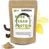 BIO Proteine Vegane in Polvere Vaniglia senza soia [dalla Germania] 650g Proteina Vegana Bio senza dolcificante per la costru