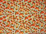 ab 1m: Erdbeeren klein, auf hellblau, 140cm breit