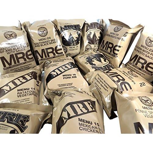 MRE - Ración de comida militar, lista para comer, del ejército de Estados Unidos, diferentes menús 9