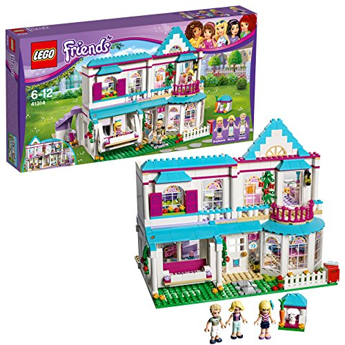 LEGO 41314 Friends Heartlake City Stephanie's House Building Set, Mini Doll House, Build and Play Toys for Girls