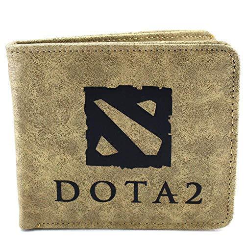 Brieftasche Dota Logo Präge Leder Geldbörse Herren Geldbörse Kreditkarteninhaber Student Geldbörse, A - Dota 1