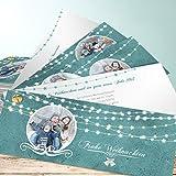 Weihnachtskarten Kaufen, Festliche Lichter 5 Karten, Kartenfächer 210x80 inkl. weiße Umschläge, Grün